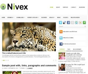 Nivex Blogger Template