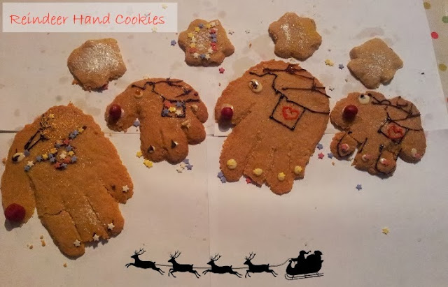 Christmas Kids Recipe Great British Chefs Reindeer Hand Cookies