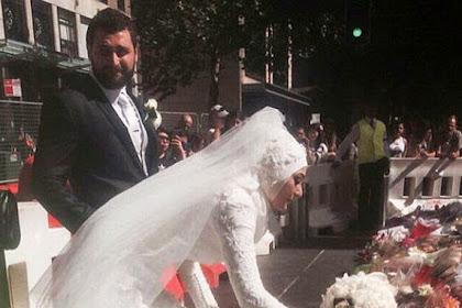 Letakkan Karangan Bunga, Pengantin Muslim Disambut Tepuk Tangan