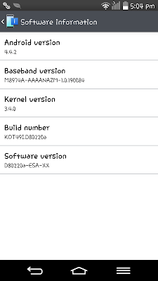LG G2 Android 4.4 KitKat Update Now Available in the Philippines
