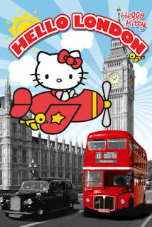 Hello Kitty London England Poster