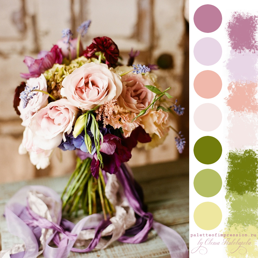 Палитра для блога. Романтичность, мягкость, теплота и чуть-чуть весна.
