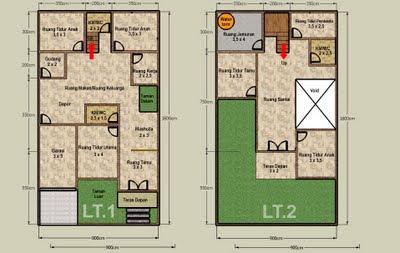 desain rumah lantai 2 on Berikut contoh Desain Rumah Minimalis 2 Lantai Type 36/45