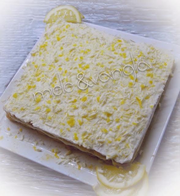 tiramisù al limone e cioccolato bianco