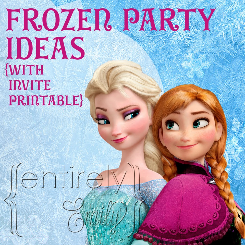 Entirely Emily: Frozen Party Ideas {with Invitation Printable}