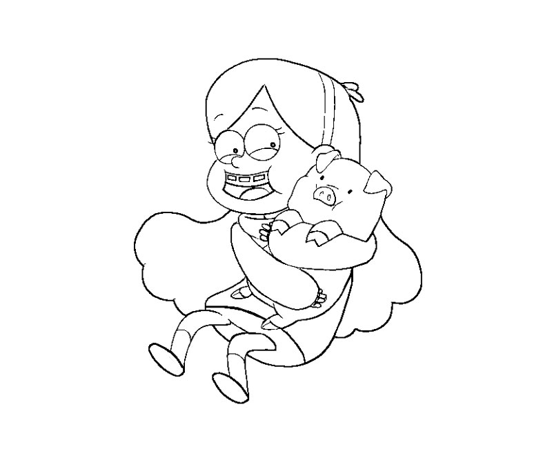 Mabel Gravity Falls Coloring Pages Mabel Pines Coloring Pages