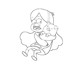 #2 Mabel Pines Coloring Page