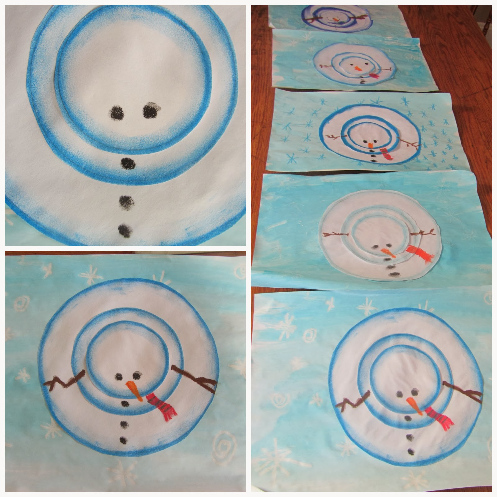 Aerial Snowman Chalk Art Tutorial-The Unlikely Homeschool