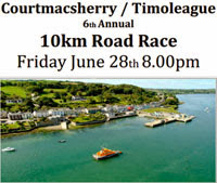 Courtmacsherry 10k in West Cork...Fast course...