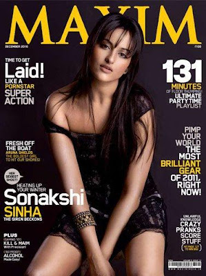 Sonakshi Sinha on Maxim Magazine