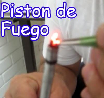 piston de fuego casero