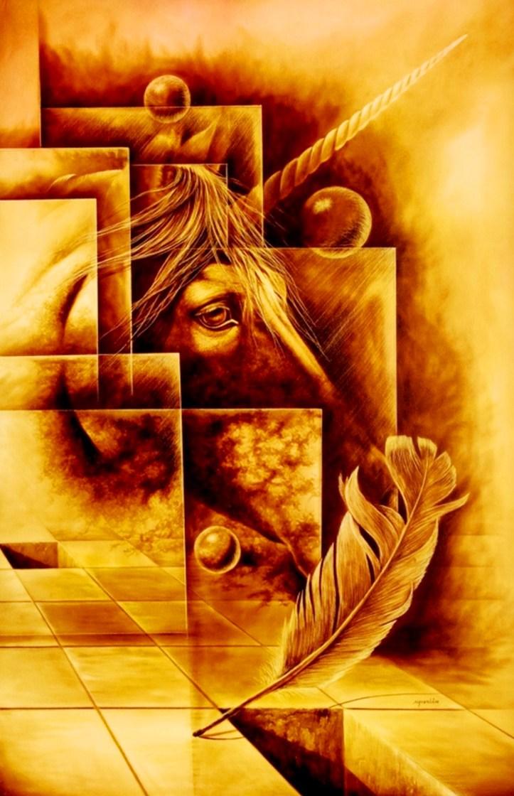 Pinturas Cuadros Lienzos: ARTE SURREALISTA DEL CABALLO