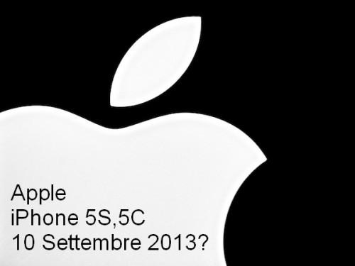 Secondo molti blog e giornali importanti americani i nuovi iPhone di Apple saranno annunciati il 10 settembre 2013