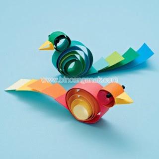 Cara Membuat Burung Kutilang Dari Kertas Bekas [ www.BlogApaAja.com ]