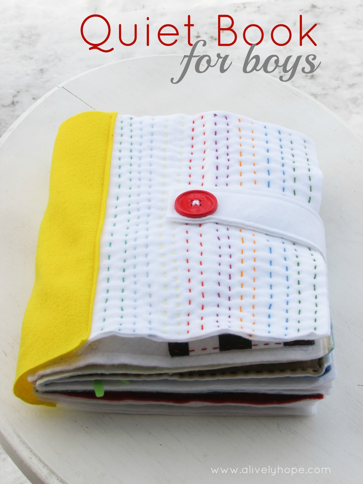 Felt Book Cover Pattern ~ A lively hope quiet book pages for boys