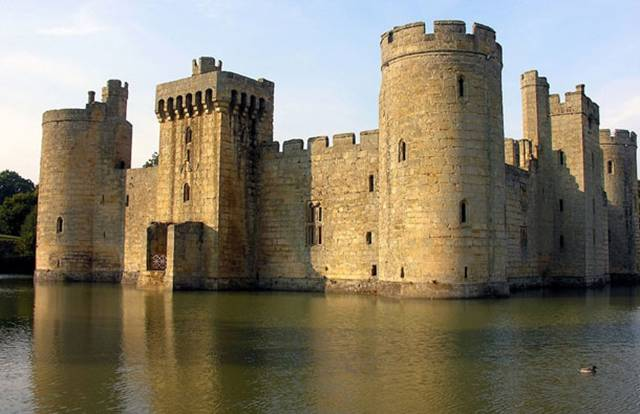 13. Bodiam Castle in East Sussex, England