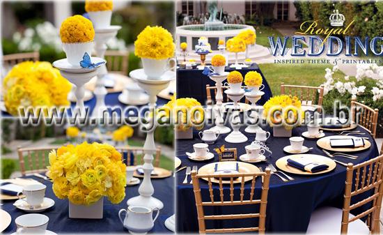 decoracao para casamento azul marinho e amarelo : decoracao para casamento azul marinho e amarelo: para o Meu Casamento: Inspirações para o meu casamento