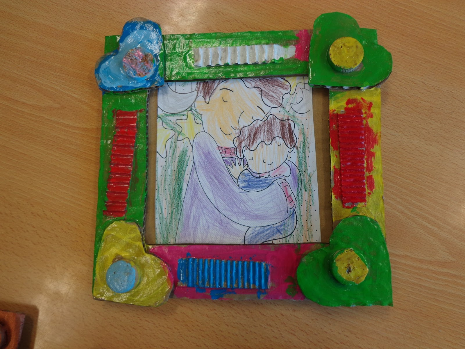 Reuse crafts cardboard picture frame craft jeuxipadfo Image collections