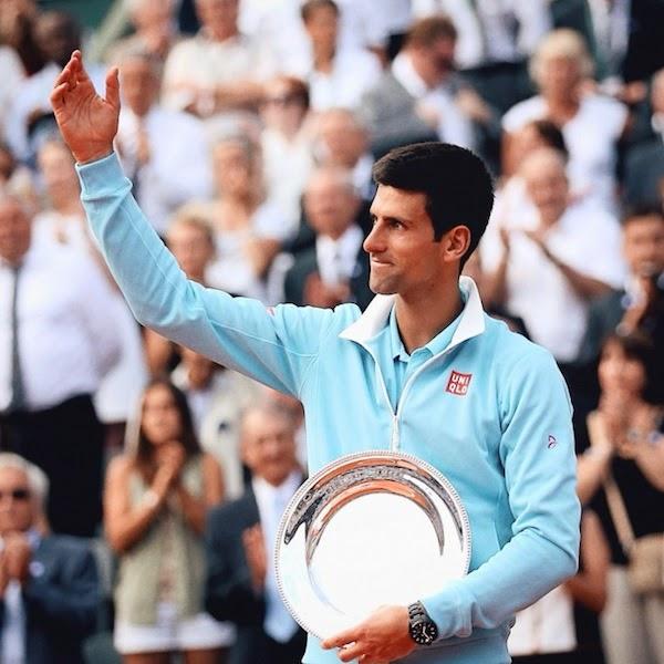Novak Djokovic Vilebrequin blue swim shorts Ibiza 9 June 2014