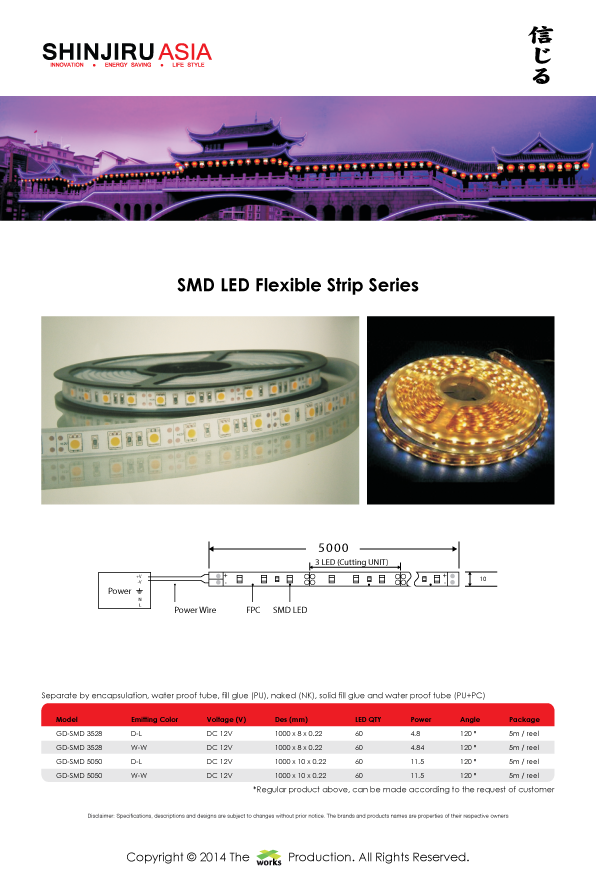 SMD, LED, Flexibile Strip