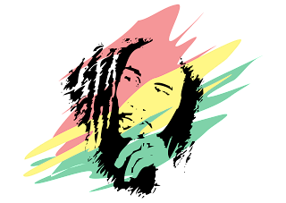Bob Marley Logo Vector download free