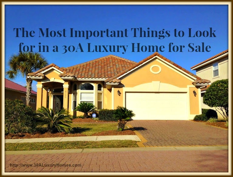 30a luxury homes the most important things to look for for Valuable things in your home