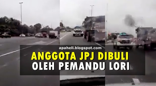Anggota JPJ Dibuli Pemandu Lori Berjaya Dirakan di Simpang Taiping (Video)