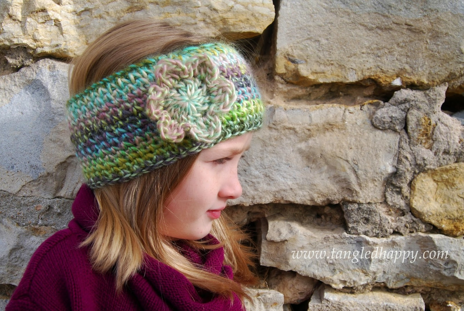 Knitting Patterns For Ear Warmers With Flower : tangled happy: Faux Knit Ear Warmer {Free Crochet Pattern}