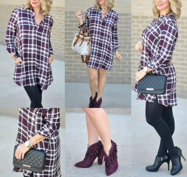 Fall Fashion - ModCloth shirtdress/tunic Mix & Match styles | Honey We're Home