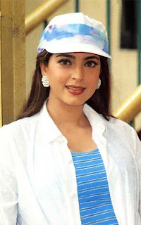 Juhi Chawal in cap and white dress wallpapers nude and sexy