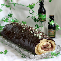 Double Chocolate Irish Cream Cake Roll