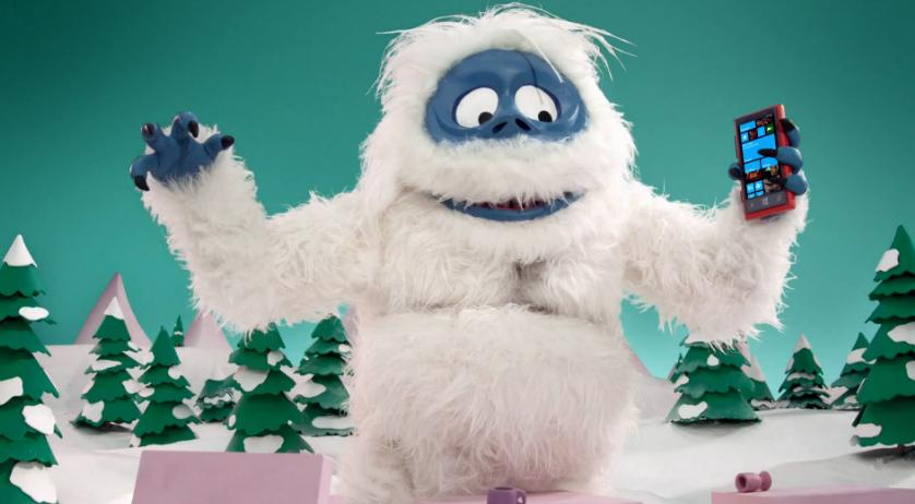 Abominable SnowMan Goes Speed Dating In New Windows Phone