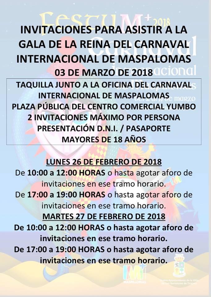 INVITACIONES A LA GALA DE LA REINA