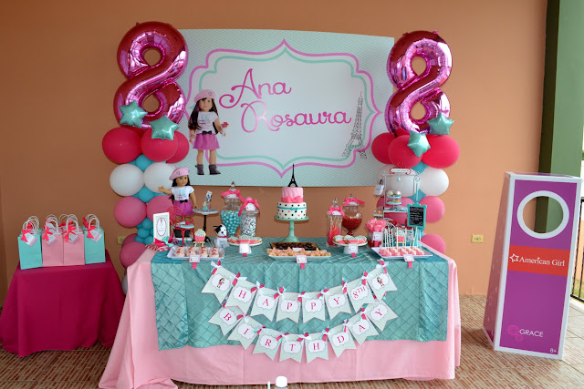 Partylicious events pr american girl cupcake party for American party decoration
