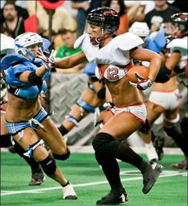 Lingerie football league tackle