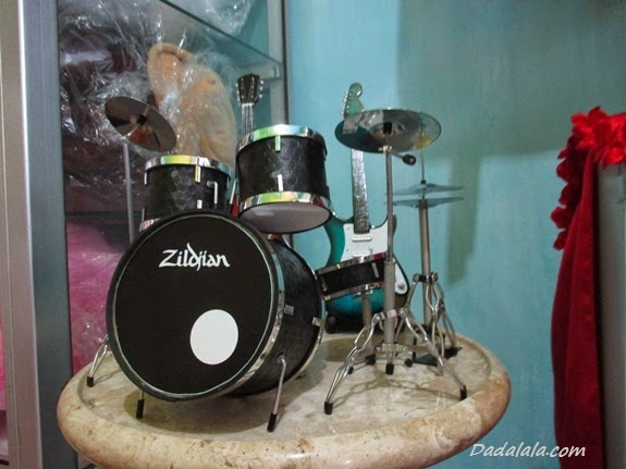 Jual Miniatur Drum Zildjian Warna Hitam Polos