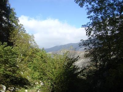 vista panorámica desde el final de la ruta