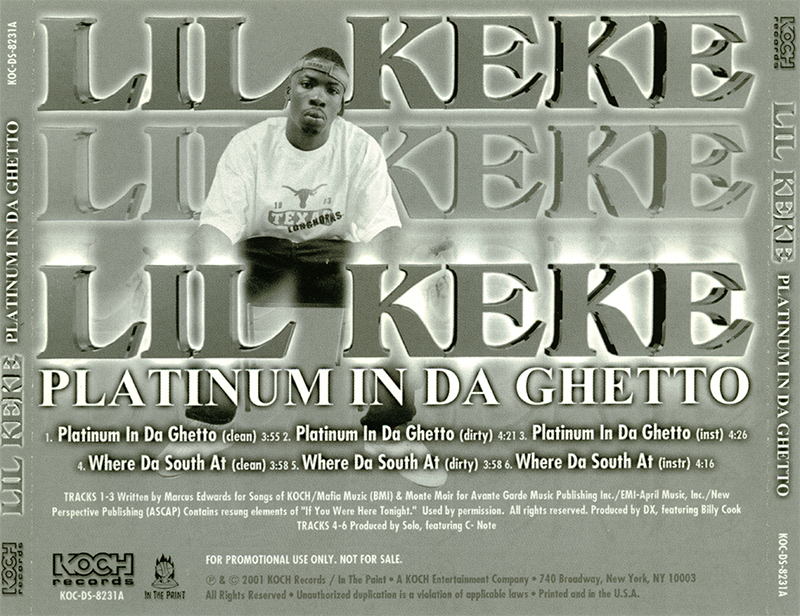 Promo import retail cd singles albums lil 39 keke platinum in da ghetto promo cd single - Welcome to the ghetto instrumental ...