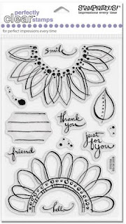 Sunny Flowers - Stampendous Perfectly Clear Stamps