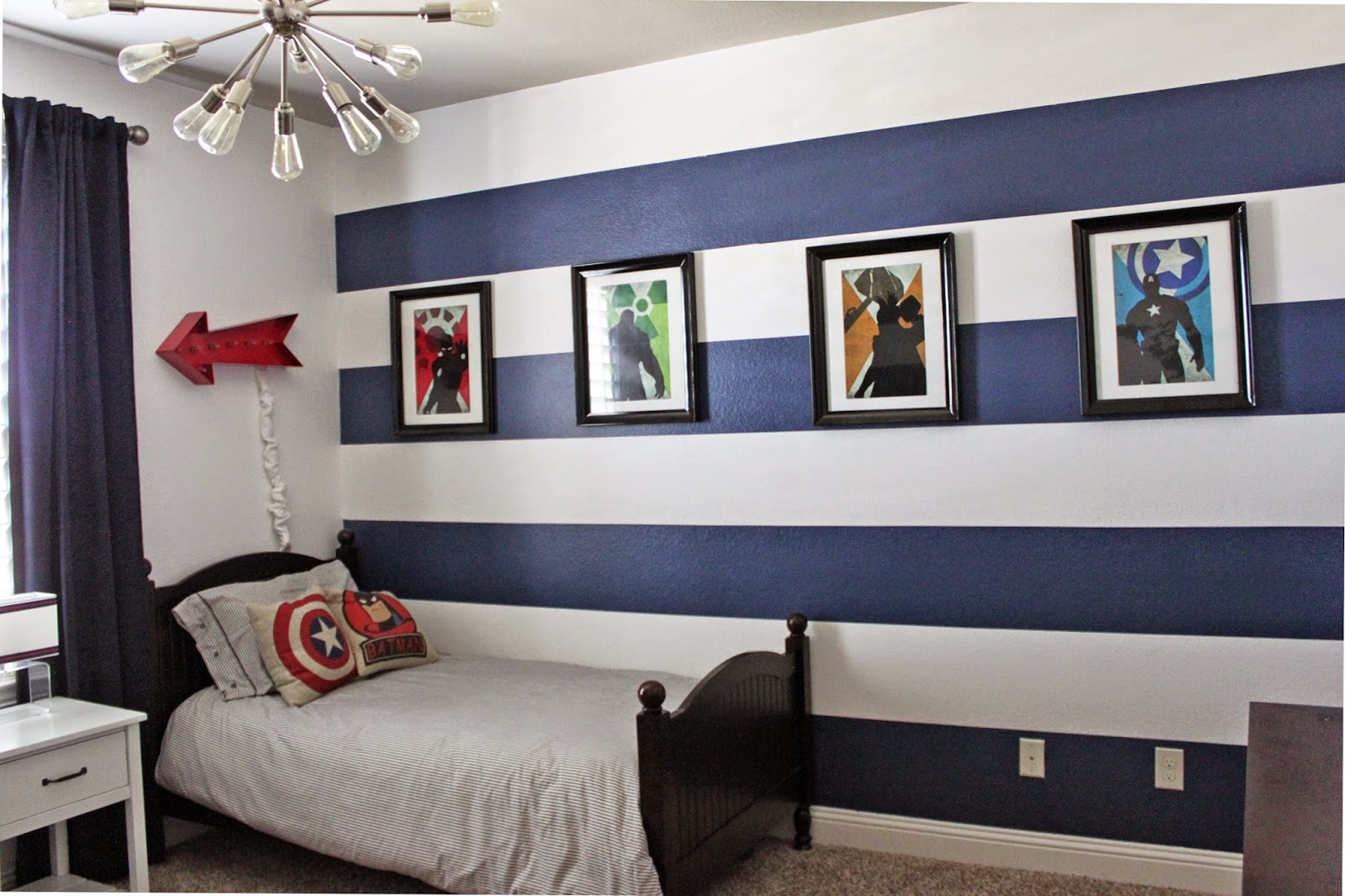 Superheroes Bedroom A Little Of This A Little Of That Boys Superhero Room Tour