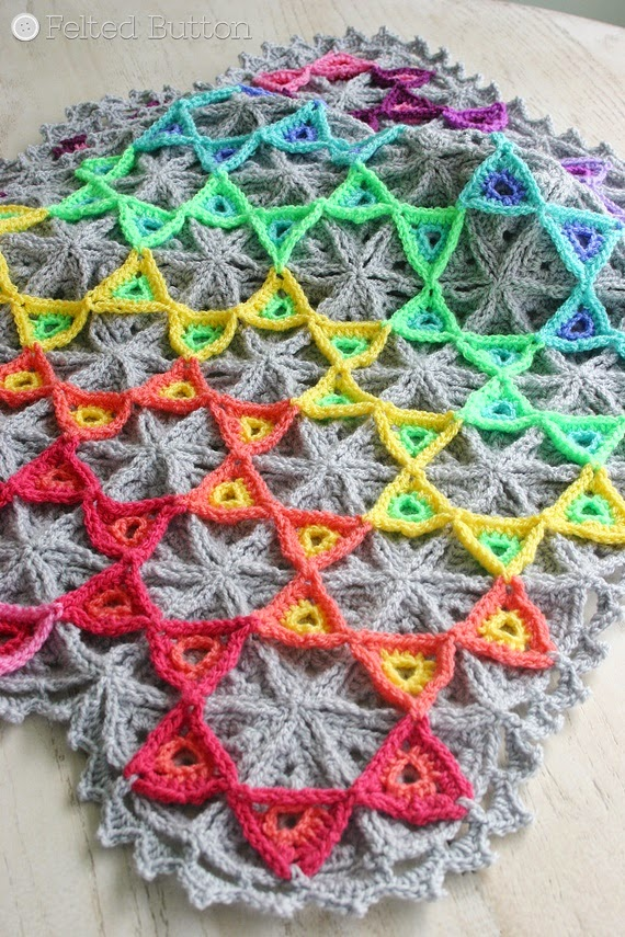 Prism Blanket Crochet Pattern by Susan Carlson of Felted Button