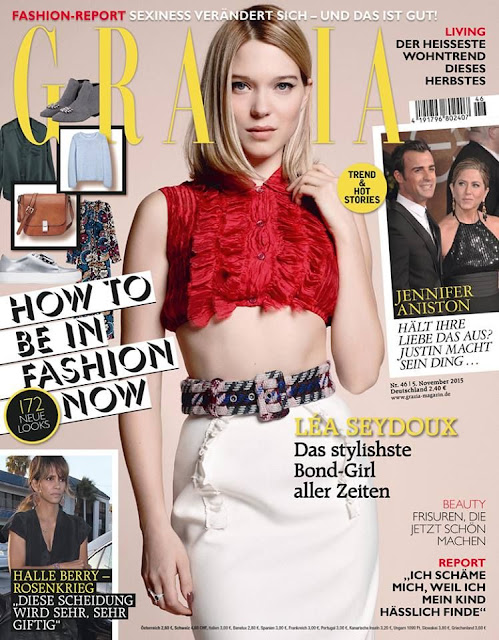 Actress @ Léa Seydoux - Grazia Germany, November 2015