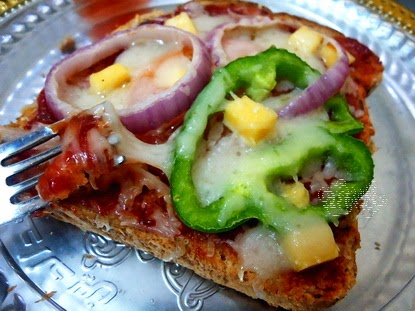 pizza roti tawar enak