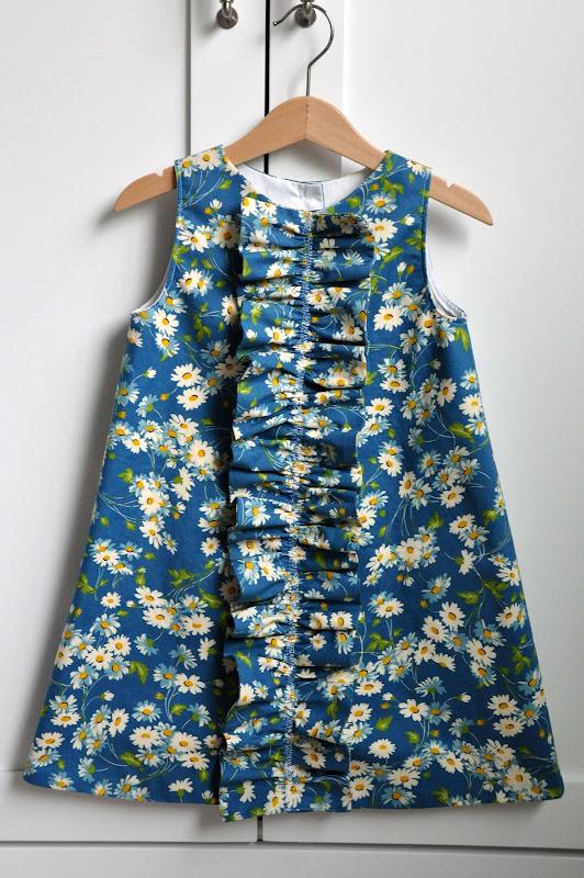 Aesthetic Nest Sewing Ruffled Chemise For Girls Pattern