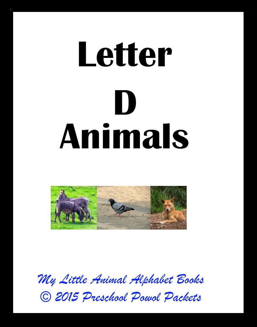 free my little animals alphabet book letter d preschool powol packets