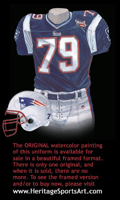 New England Patriots 2001 uniform
