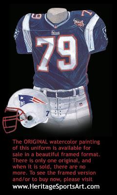 New England Patriots 2001 uniform