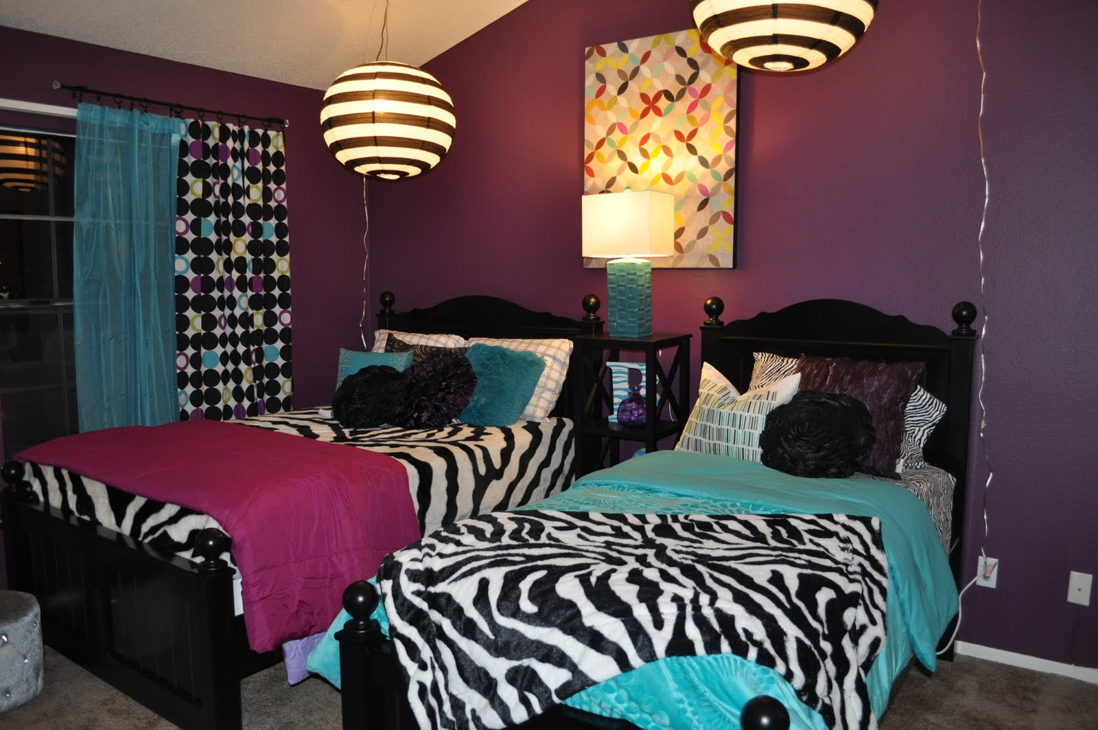they wanted dark purple walls and zebra bedding we gave it to them