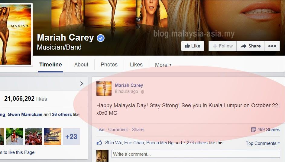 Mariah Carey Tweets Happy Malaysia Day