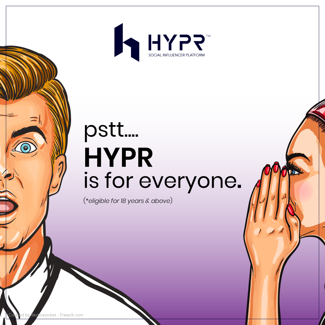 LET'S BE A HYPR INFLUENCER
